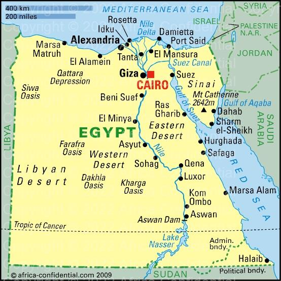Egypt Browse By Country Africa Confidential - Map of egypt country