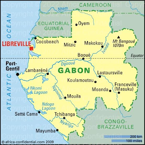 Gabon Browse By Country Africa Confidential - Gabon map
