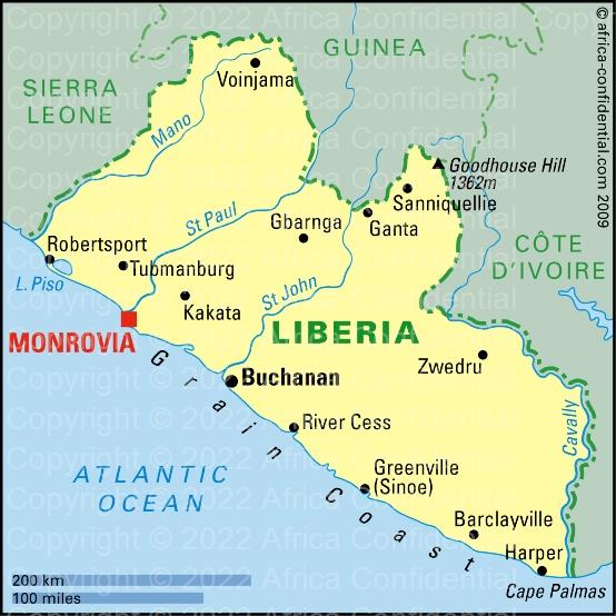 Liberia Browse By Country Africa Confidential - Liberia map
