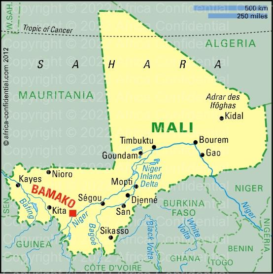 Mali Browse By Country Africa Confidential - Mali map