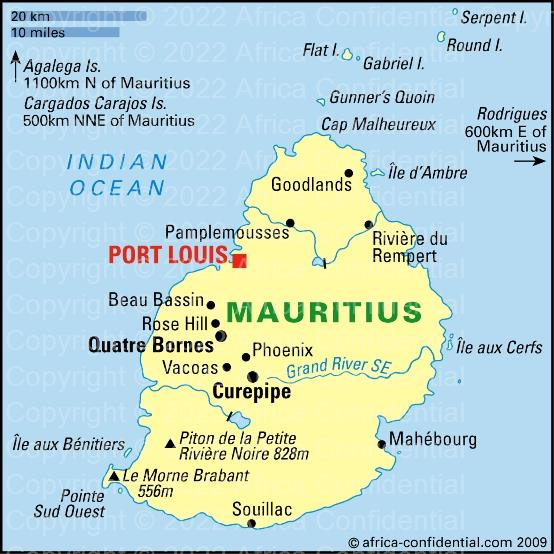 Mauritius Browse By Country Africa Confidential - Mauritius map africa