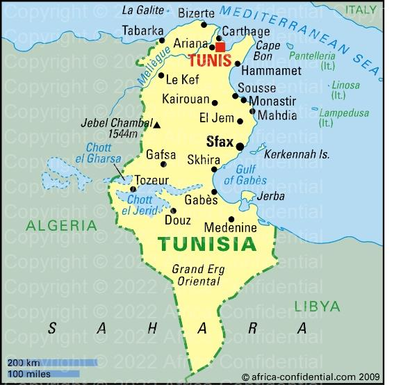 Tunisia Browse By Country Africa Confidential - Tunisia map africa
