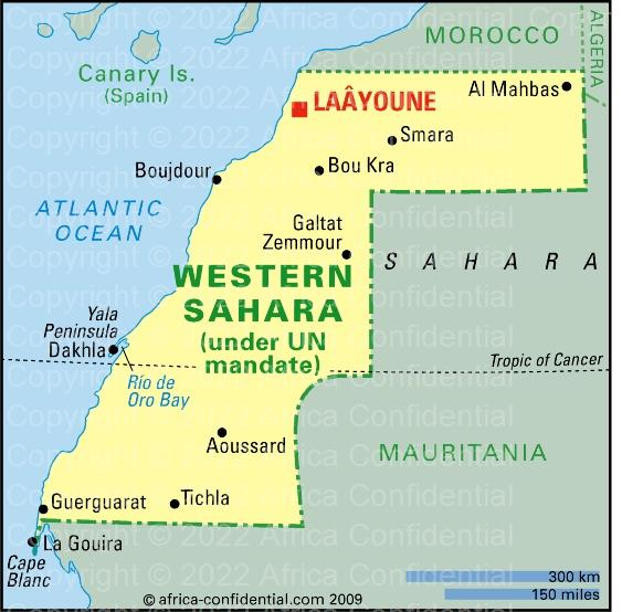 Western Sahara Browse By Country Africa Confidential - Western sahara map
