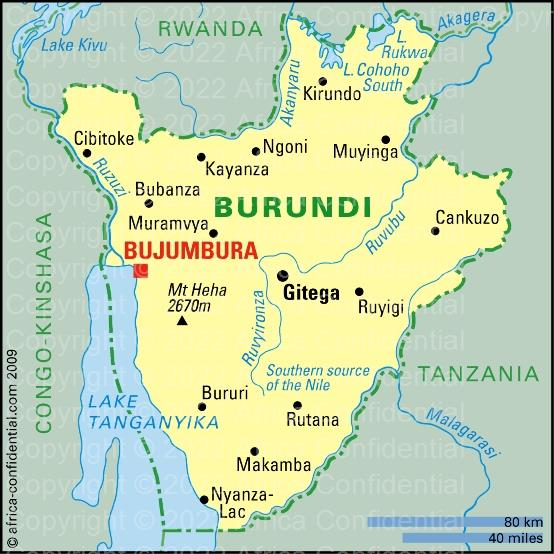 Burundi Browse By Country Africa Confidential - Burundi map