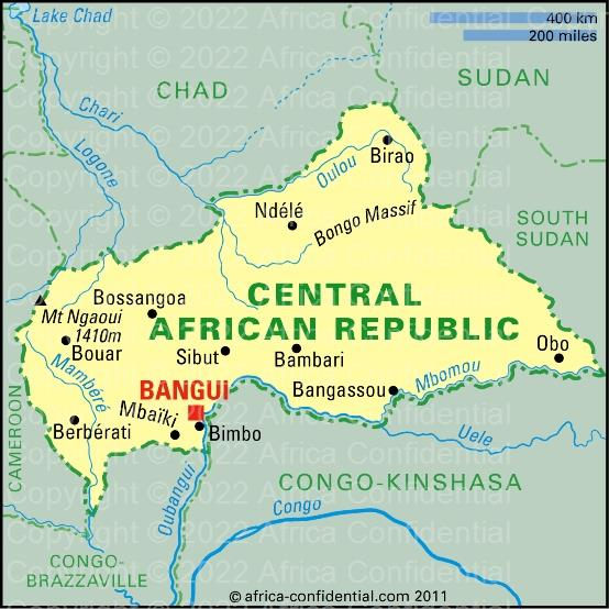 Central African Republic Browse By Country Africa Confidential - Central african republic map