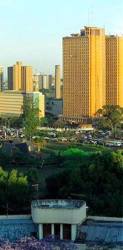 NAIROBI: Central business district. Crispin Hughes / Panos