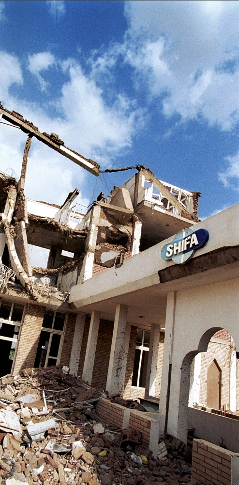 SUDAN Khartoum: The El Shifa factory, which was bombed in 1998 by the USA.