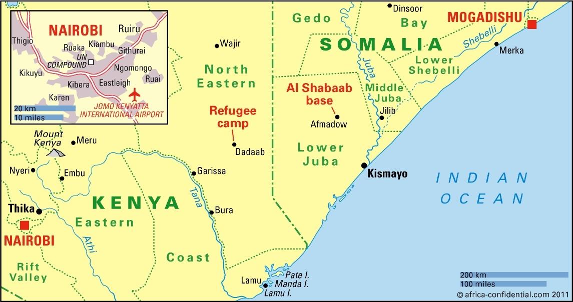 africa map kenya somalia