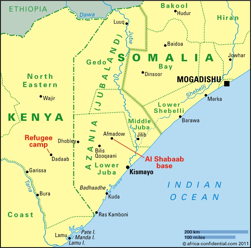 somalia south africa map