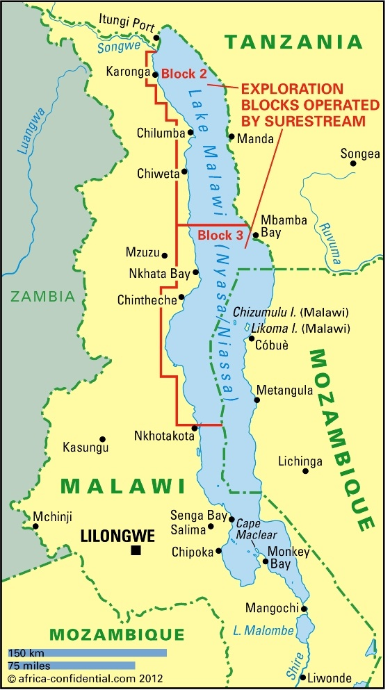 Lake Malawi Africa Map.Oil And Gas Prospects Fuel Lake Row Article Africa Confidential