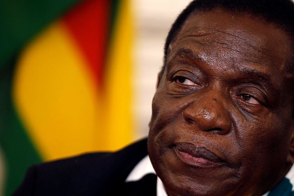 Emmerson Mnangagwa. Pic: Philimon Bulawayo / Reuters / Alamy