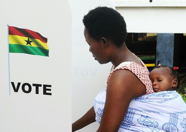 Election day in Ghana, December 2016. Pic: Xinhua/SIPA USA/PA Images