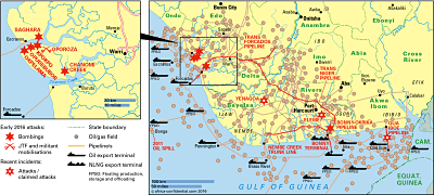 Niger Delta Map Copyright © Africa Confidential 2016