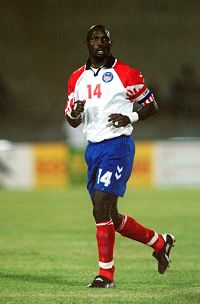 George Weah at the 2002 African Cup of Nations. Pic: Adam Davy/EMPICS Sport