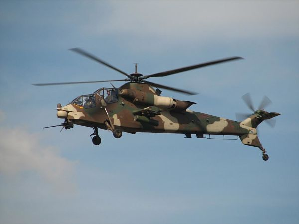 """""""File:Denel Rooivalk flying 2006.jpg"""" by Danie van der Merwe is licensed with CC BY 2.0. To view a copy of this license, visit https://creativecommons.org/licenses/by/2.0"""