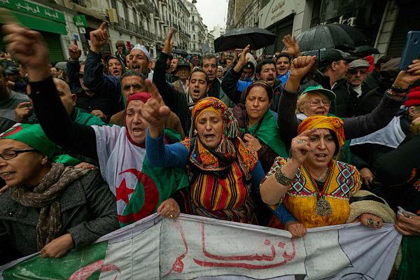 Anti-government demonstration, Algiers, January 2020. Pic: Louiza Ammi/ABACA/PA Images