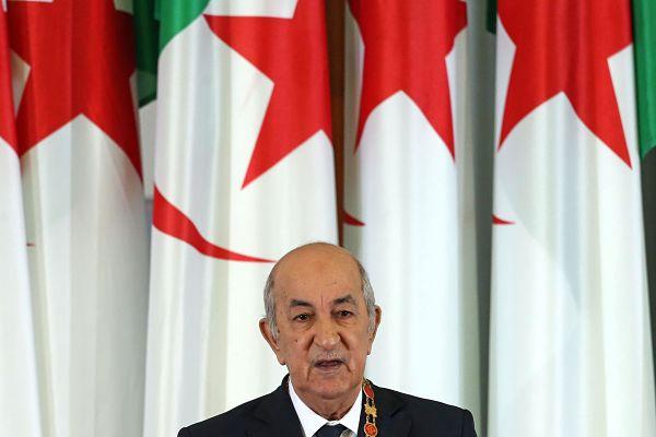 President Abdelmadjid Tebboune. Pic: Farouk Batiche /dpa/ Alamy
