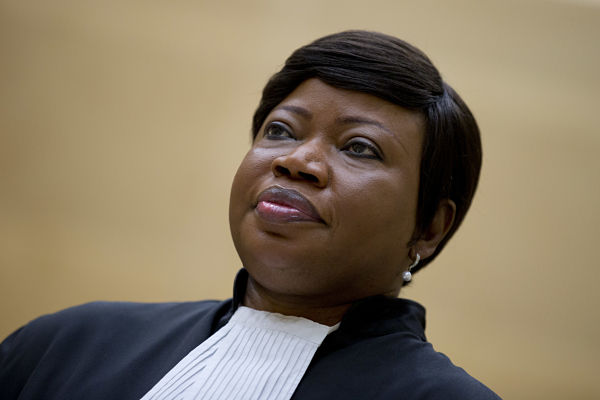 29 September 2015. Fatou Bensouda waits for Jean-Pierre Bemba, former Vice-President of Congo, to enter the court room of the International Criminal Court. Picture by Peter Dejong AP/Press Association Images