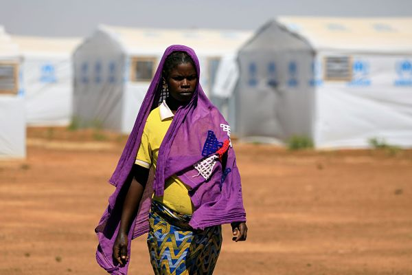 A camp for internally displaced people, Dori, Burkina Faso, November 2020. Pic: Zohra Bensemra / Reuters / Alamy Stock Photo