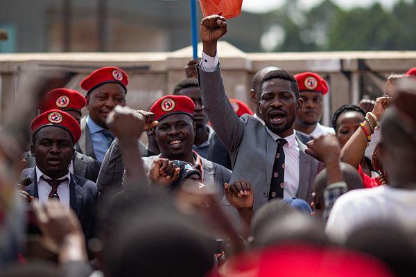Bobi Wine. Pic: Luke Dray / Alamy Stock Photo