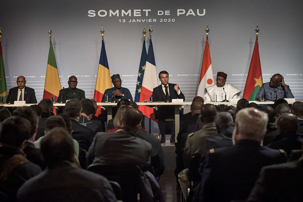 Press conference at the G5 Sahel summit on the situation in the Sahel region in Pau, France, 13 January 2020. Pic: Top Quentin/Pool/ABACA/ABACA/PA Images
