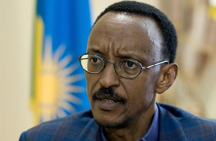 RWANDA Kigali: President Paul Kagame in his office in Kigali. Sven Torfinn / Panos
