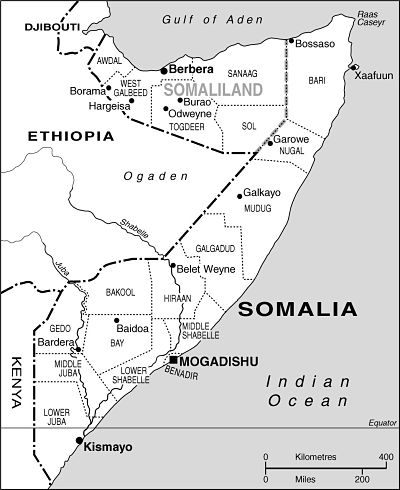 Somalia map Copyright © Africa Confidential 1996-2016