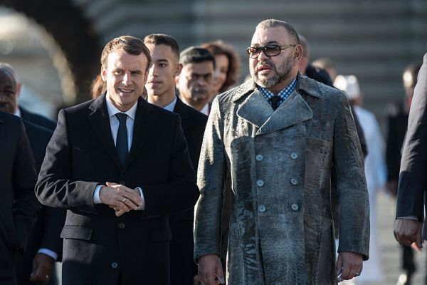 French President Emmanuel Macron and King Mohammed VI of Morocco. Pic: Eliot Blondet / Abaca Press / Alamy
