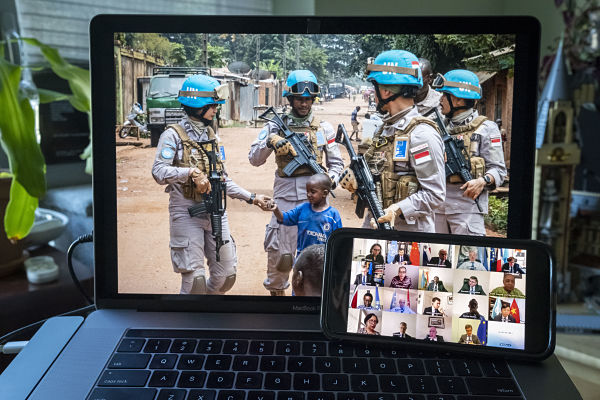 June 2020, Security Council videoconference about Minusca in CAR. Pic:UN Photo/Loey Felipe