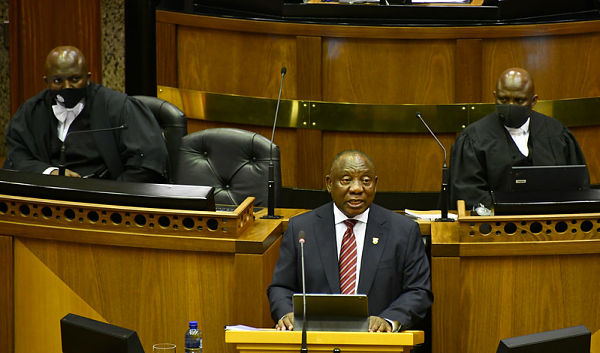 President Ramaphosa presents the Economic Reconstruction and Recovery Plan to a Joint Hybrid Sitting of Parliament, 15 October 2020. Pic: GCIS (CC BY-ND 2.0)