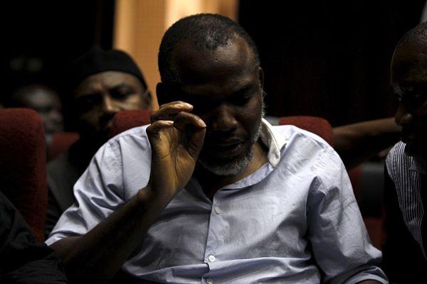 Nnamdi Kanu in court in 2016. Pic: Afolabi Sotunde / Reuters / Alamy