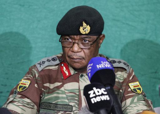 Constantino Chiwenga. Pic: Shaun Jusa/Xinhua News Agency/PA Images