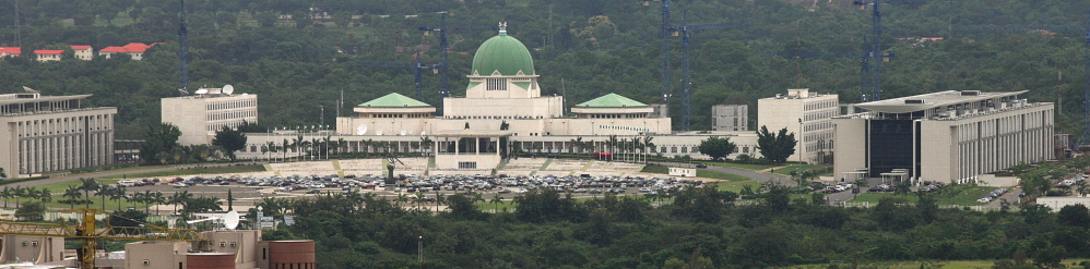 NIGERIA: The green dome of the National Assembly in Abuja. George Osodi / Panos