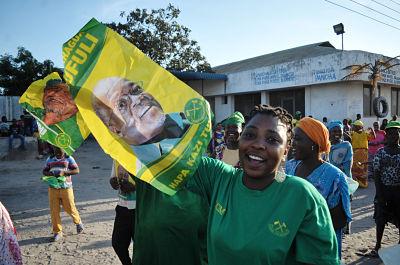 CCM supporters celebrate (AP Photo/Khalfan Said)