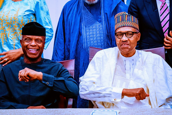 """File: Vice President Yemi Osinbajo and President Buhari.png"" by NarenderShimla is licensed under CC BY-SA 4.0"