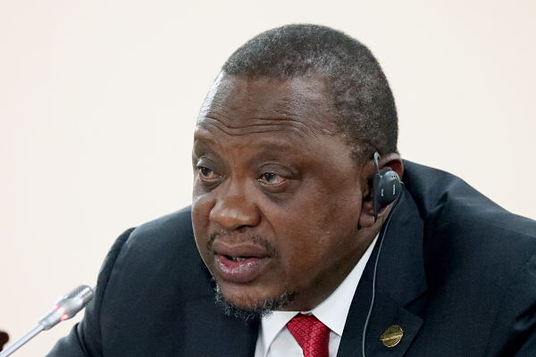 Uhuru Kenyatta. Pic: Alexander Ryumin/Tass/PA Images