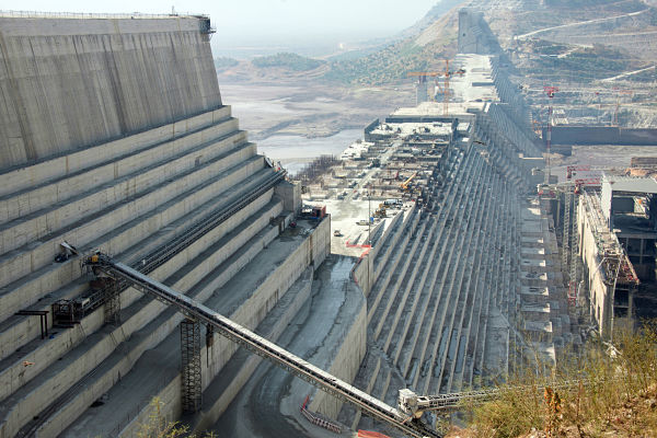 Grand Ethiopian Renaissance Dam. Pic: Gioia Forster/DPA/PA Images