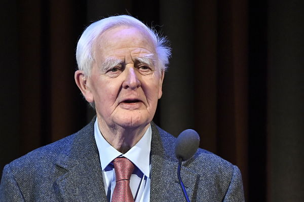 John le Carré in Stockholm to receive the Olof Palme Award, January 2020. Pic: Claudio Bresciani/TT/TT News Agency/PA Images