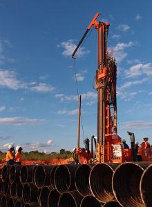 Exploration drilling at Kamoa. Image © 2015 Ivanhoe Mines