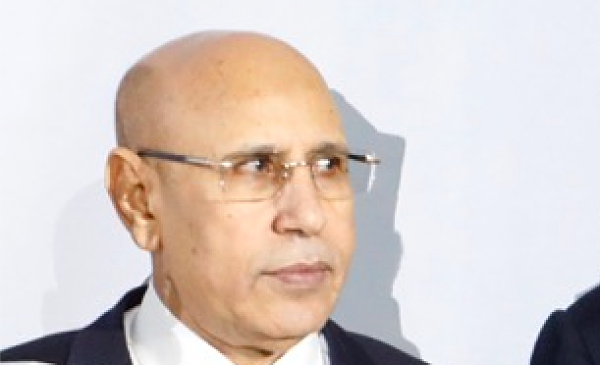 Mohamed Ould Cheikh el Ghazouani. Pic: European Union
