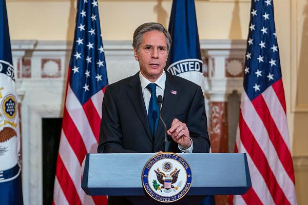 US Secretary of State Antony Blinken. Pic: US State Department Photo by Ron Przysucha