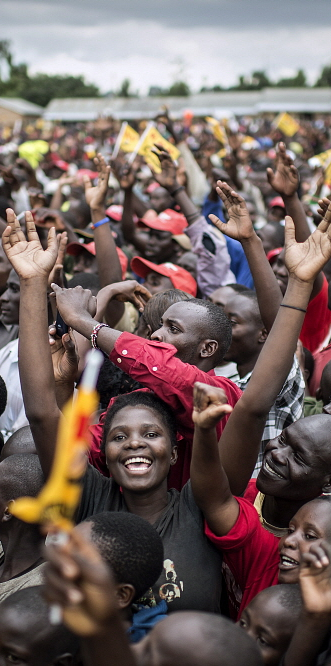 KENYA Kitale: A 2013 campaign rally by Uhuru Kenyatta and William Ruto. Sven Torfin / Panos