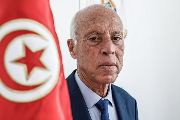 Kaïs Saïed. Pic: Khaled Nasraoui/dpa/Alamy
