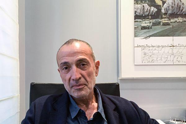 Iskandar Safa in his office in Paris. October 2018. Pic Christian Böhmer / dpa/ Alamy