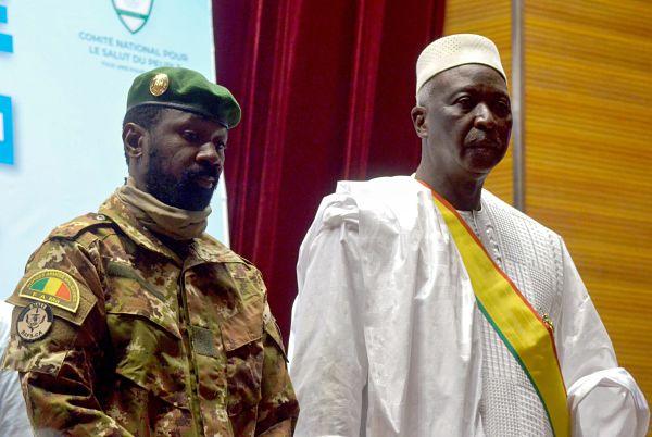 Col Assimi Goïta and Bah N'Daw. September 2020. Pic: Amadou Keita / Reuters / Alamy