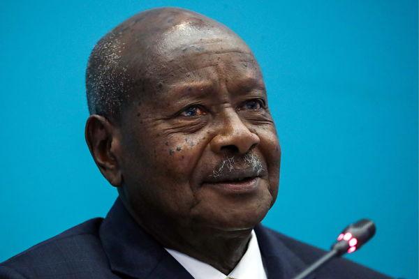 Yoweri Museveni. Pic: Anton Novoderezhkin/Tass/PA Images