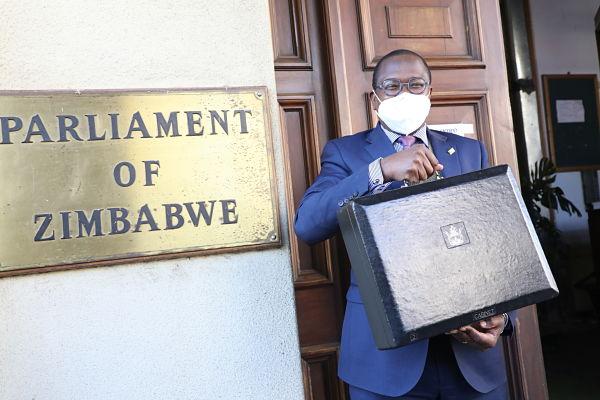 Mthuli Ncube at Parliament, Harare, July 2020. Pic: Wanda/Xinhua News Agency/PA Images