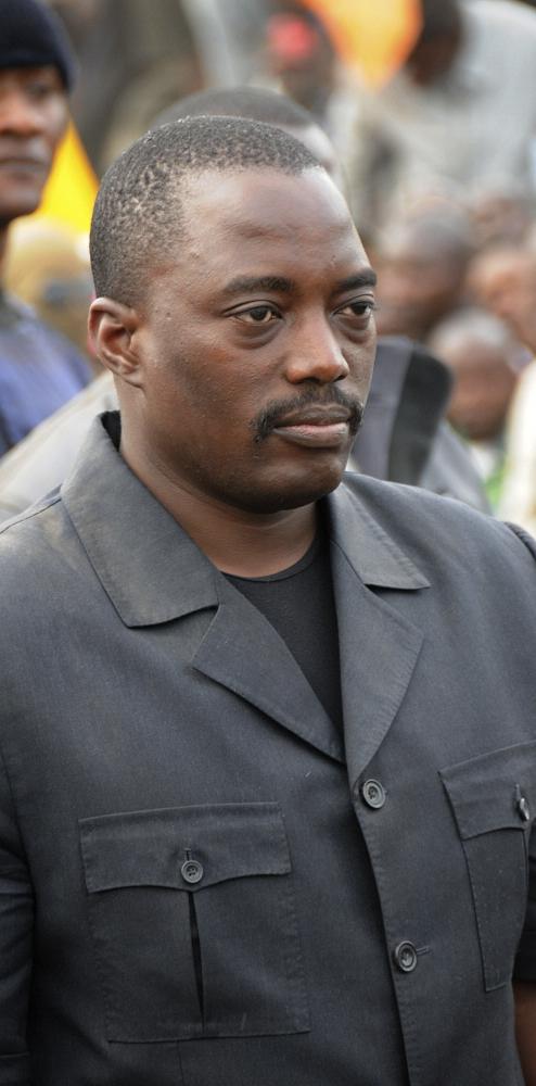 President Joseph Kabila on a visit to Goma in 2009. Teun Voeten / Panos