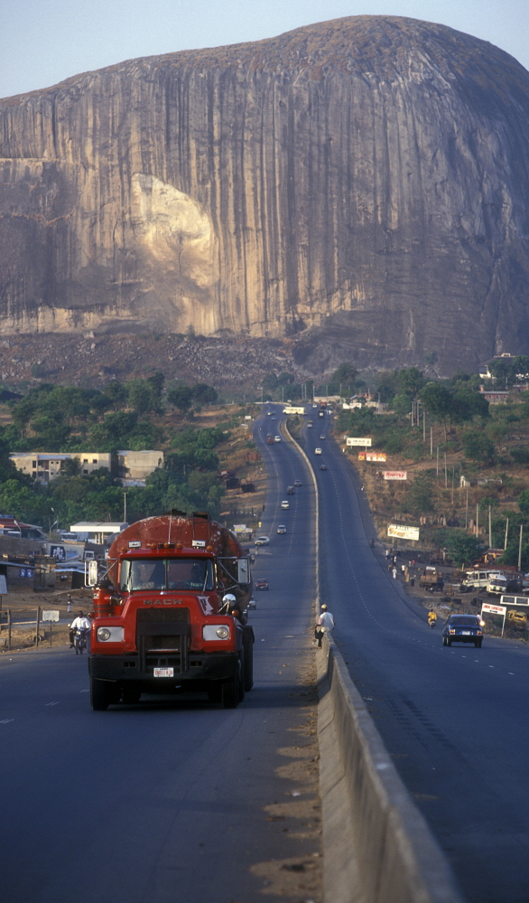 Zuma Rock, Abuja, a huge monolith, the symbol of the Capital. Marcus Rose / Panos Pictures