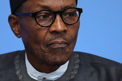 President Muhammadu Buhari at the Anti-Corruption summit in London in May 2016. Pic: Dan Kitwood PA Archive/PA Images